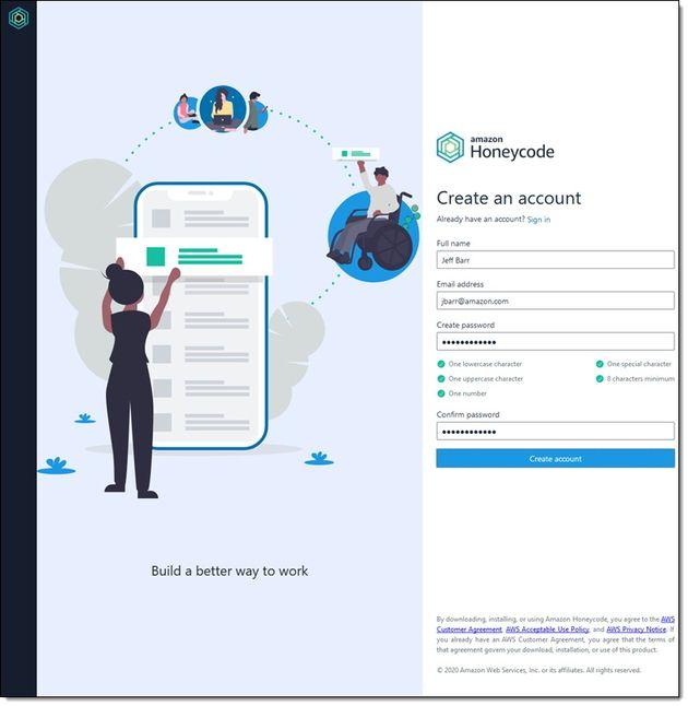AWS lance Amazon Honeycode, pour créer ses applications no code