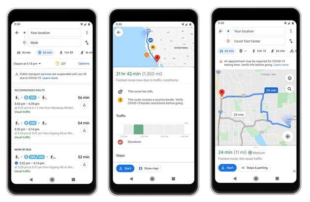Google Maps facilite les déplacements en période de Covid-19