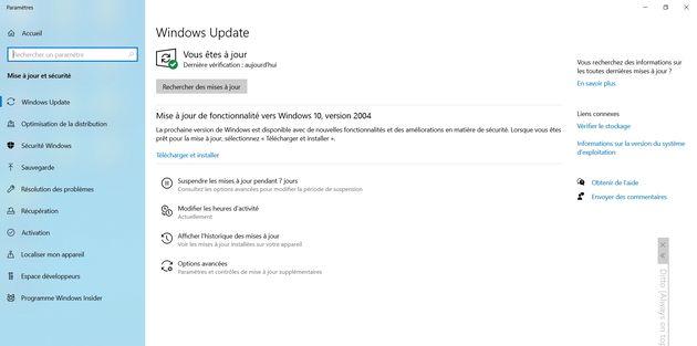 Windows10: plus de report de mise à jour pour les pros
