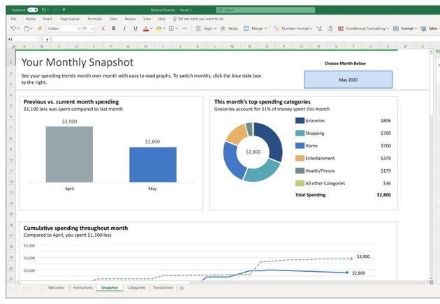 Microsoft365: Excel propose de gérer son budget