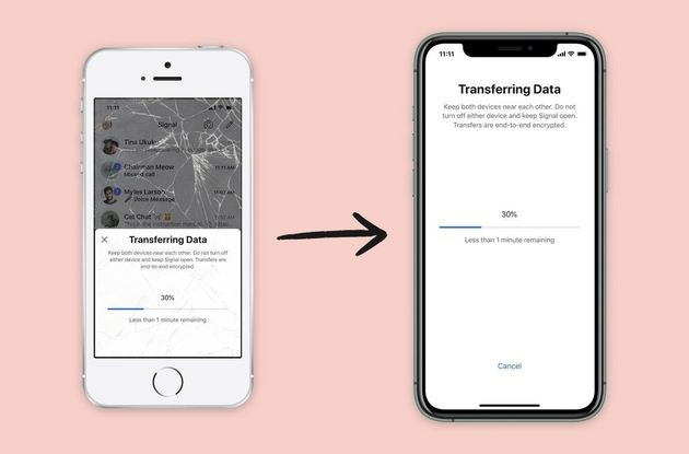Signal permet de migrer les données d'un appareil iOS à un autre
