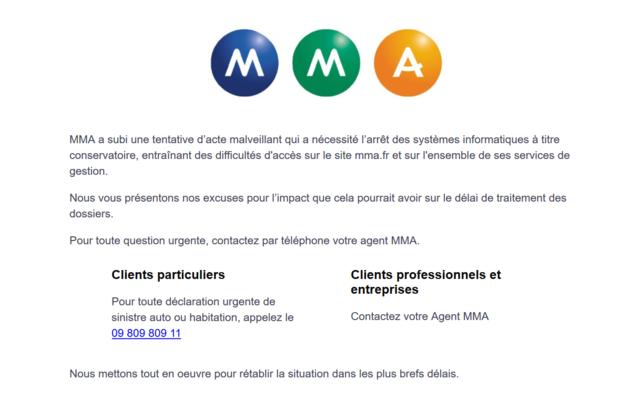 MMA: l'assureur paralysé par une attaque informatique