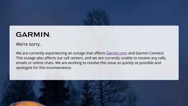 Les services de Garmin tombent en panne après une attaque de ransomware