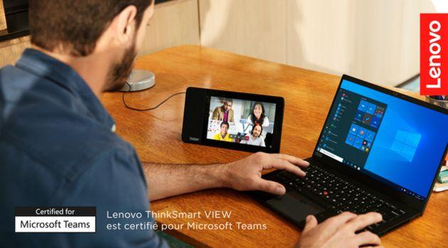 ThinkSmart View, le nouvel assistant de productivité alliant flexibilité et confort